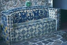 Spanish Tiled bench