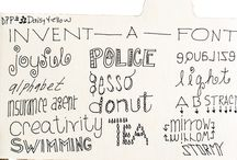 Fonts / Lettering ideas / by Nicole Nelson