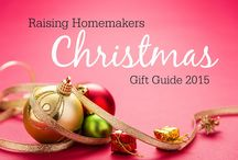 Raising Homemakers Christmas Gift Guide 2015 / Find ideas and inspiration for gift giving during the holidays!