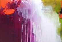 Acrylic Abstracts / Yummy colours that flow and run into each other