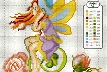 Fairy / Schemi punto croce