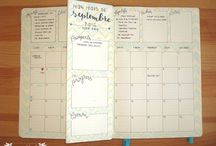 bullet journal idee calendrier