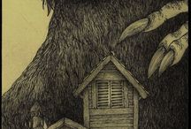 John (DON) KeNN / scarry/ creepy  ilustrations