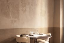 Vinaria Restaurant, Venice / Vinaria Restaurant at Venice, Italy Designed by Matteo Brioni, wall furnishing with MultiTerra color cannella, TerraPlus color cannella, TerraEvoca Custom on Multiterra.