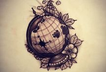 Globe tattoo ideas