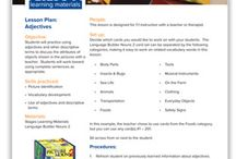 Autism Lesson Plans / Lesson plans to use at home and in class to teach basic language skills to children with Autism