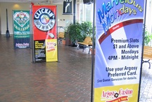 Hardware - Floor Stands & More / We design and customize projects using the finest signage hardware and accessory systems available including standoffs, wall mounts, signage displays, cable display systems, banner stands, banner hangers, backlit cases and hanging ceiling displays. http://www.pixus.com/products-services/display-hardware.html / by Pixus Digital Printing