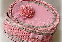 плетение из газеты фото