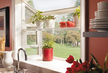 Garden Windows / A great way to invite the outdoors into the home.