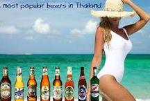 Beer in Thailand / Thailand, local beer brands,varieties, sizes, promotional posters, advertising, merchandising and drinking! http://islandinfokohsamui.com/ / by Island Info Samui