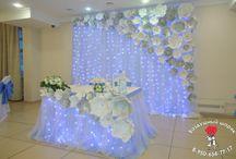 Bride and bridegroom tables