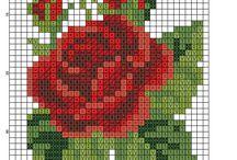 róże haft