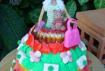 tarta chucherías barbie