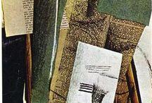 3. kubismus syntetický  (1912-1914) / Pablo Picasso, Georges Braque, Juan Gris