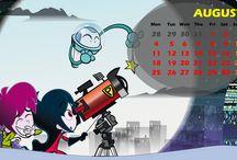 August / Agosto / Calendar / Calendario