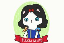 Cat Famous Characters by Winda Lee / These are my version of Cat Famous Characters. I hope you guys like them ^^ Please feel free to tag, pin, and share