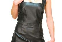Women's Leather Dresses & Skirts