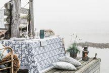 Dukat bord / Bordsdukning, textilier, servetter, servering.