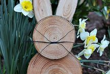 Easter wooden bunny