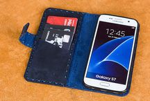 Samsung Phone Leather Wallet Case