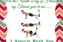 12 Days of Fitness (Christmas Edition) / 12 Days, 12 Exercises. All themed for the holidays.