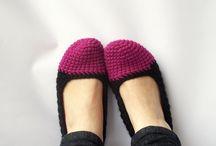 chrochet house shoes