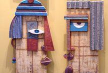 Ceramic Art Sculpture Three dimensional Wall art Anastasaki / Contemporary Art Handmade Ceramic Art Sculptures three dimensional wall art - Functional ceramics - ceramic favors Located Athens Greece