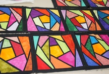 stained glass quilt patchwork   / by Soffy Rpo
