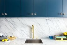 Beautiful Marble Kitchens / Celebrating beautiful kitchen design, with marble detailing such as marble worktops and splash backs; a mixture of modern kitchens, industrial kitchens and warehouse style kitchens.