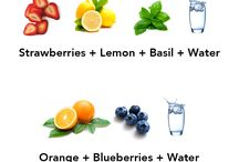 Waterfles met fruit