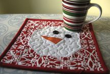 Quilted Mug Rugs / coffee or tea mug rugs / by Donna Clark