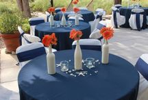 Fall Wedding / Inspired by Navy & Orange-Red