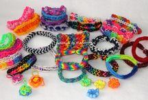 Loom Bands - Gumičky / Postupy, galérie, fotografie na gumičkové náramky, prstene, ozdoby. Loom Bands je hit!