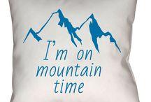 Mountain Time Throw Pillows