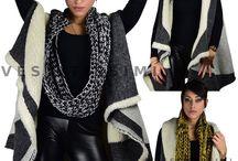 Sciarpa scaldacollo donna lana fascia collo sciarpe anello foulard tubolare As1