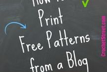 How to print free patterns from print friendly