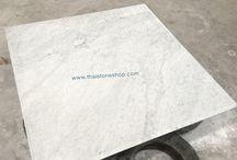 White carrara  ขนาดพิเศษ สั่งทำท็อปโต๊ะ / White carrara  ขนาดพิเศษ สั่งทำท็อปโต๊ะ  www.thaistoneshop.com