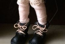 Handmade doll leather boots