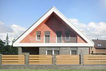 Návrh rekonstrukce a studie exteriéru rodinného domu v Plzni / Předmětem zadání byl návrh exteriéru stávajícího rodinného domu a návrh nových dvou pergol, samostatně stojící dvougaráže a oplocení pozemku.