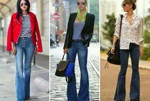 pantaloni a zampa