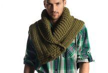 bufandas hombre tejidas