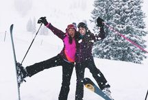 skiing,snowboarding