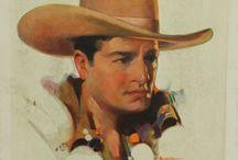 Vintage Cowboy + Western Art