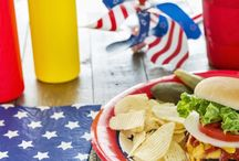 Memorial Day / Ideas for Memorial Day parties, with appetizers, recipes, desserts crafts and home decor and outdoor decorations for kids and adults.