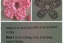 flor de crochê.