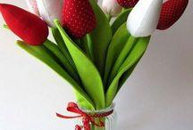 Tulipany - szycie