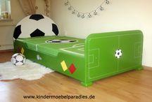 Kinderbett Fußball / Tolles Fußballbett für kleine und große Kicker.