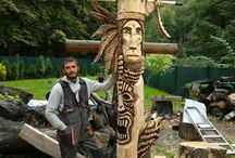 Wood totem from woodcarving.sk