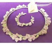 Στεφανάκια για Παρανυφάκια ή και για βάπτιση / Χειροποίητα στεφανάκια για παρανυφάκια με πορσελάνινα άνθη φτιαγμένα στο χέρι