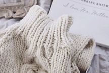 Knitting Inspiration / Handmade with love cosy things